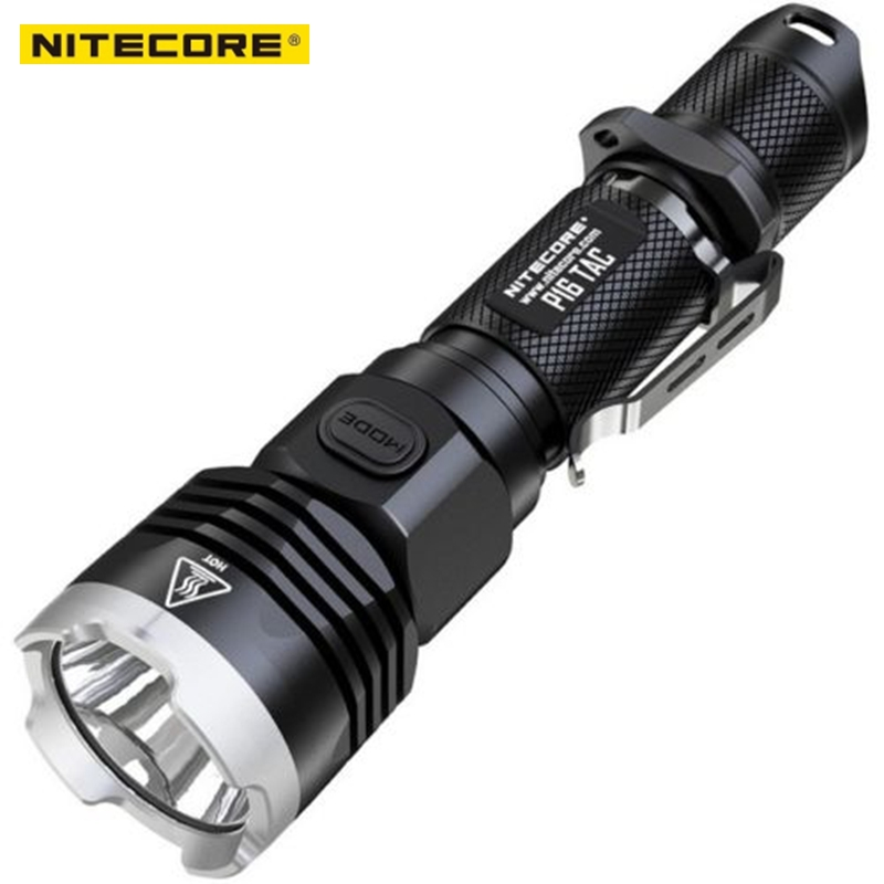 NITECORE P16 TAC flashlight 1000 lumens one-handed operation <font><b>CREE</b></font> XM-<font><b>L2</b></font> <font><b>U3</b></font> <font><b>LED</b></font> for Hunting Hiking Search Rescue Tactical Torch image