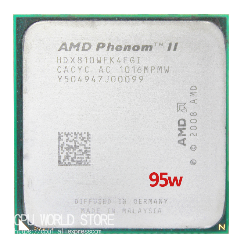 AMD Phenom II X4 810 CPU 2.6Ghz/ 4M /95W Socket AM3 AM2+ 938 Pin Processor Quad-Core Free Shipping
