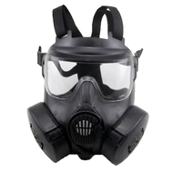 New Sniper DC 15 Head Mounted M50 Gas Mask With Anti fog Glasses Real CS Field Army Fan Riding For Cosplay Party mask