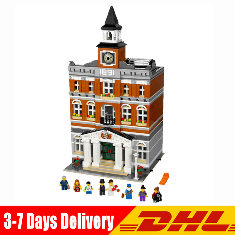In Stock Classic The Town Hall City Street Model Building Blocks Bricks Gifts Toys for Kids Gifts Compatible LegoINGlys 10224 single sale pirate suit batman bruce wayne classic tv batcave super heroes minifigures model building blocks kids toys gifts