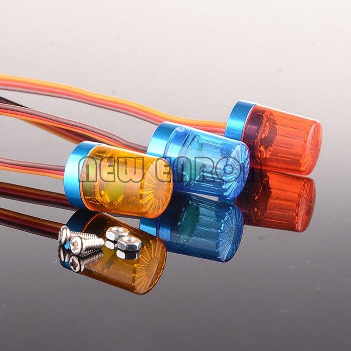 RC Voiture De Police AX-510 Flash Lumineux LED Lumière 5 Modes 360 Rotation En Aluminium 1/10