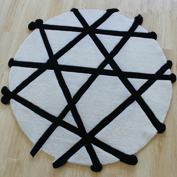 online kaufen großhandel runde schwarz teppich aus china runde ... - Wohnzimmer Teppich Schwarz Weis