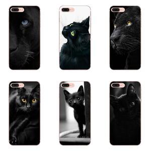 TPU llamada caja encantadora gato negro ojo grande para Galaxy J1 J2 J3 J330 J4 J5 J6 J7 J730 J8 2015, 2016, 2017, 2018 Mini Pro