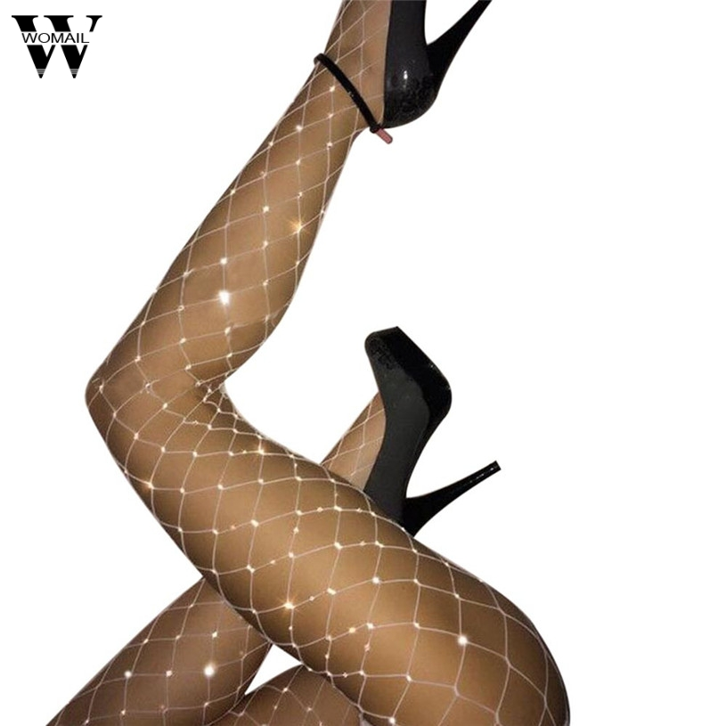 Womail Stockings Women Summer Fishnet Tights for Womens Net Pattern Thigh High Stockings Black Lingerie Pantyhose Stocking