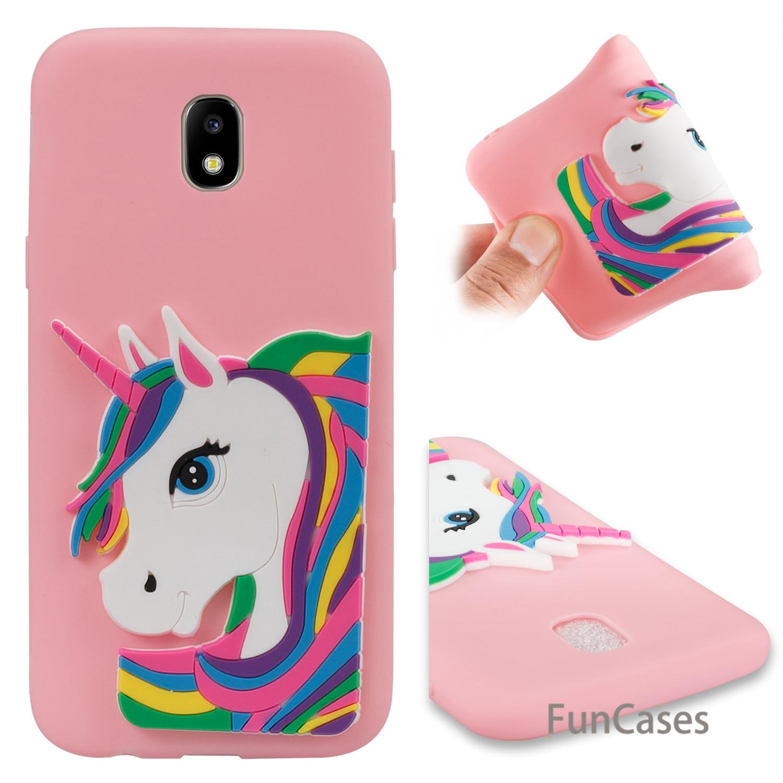 Lovely Unicorn Case sFor Estojo Samsung J530 European Version Soft Silicone Phone Shell Case Samsung Galaxy J5 2017 EU Version