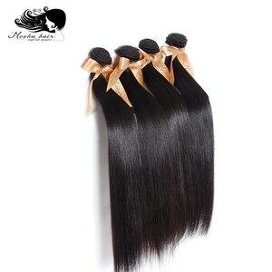 Image 4 - Натуральные волосы для наращивания, 100% необработанные, 10 А, прямые, 8 26 дюймов