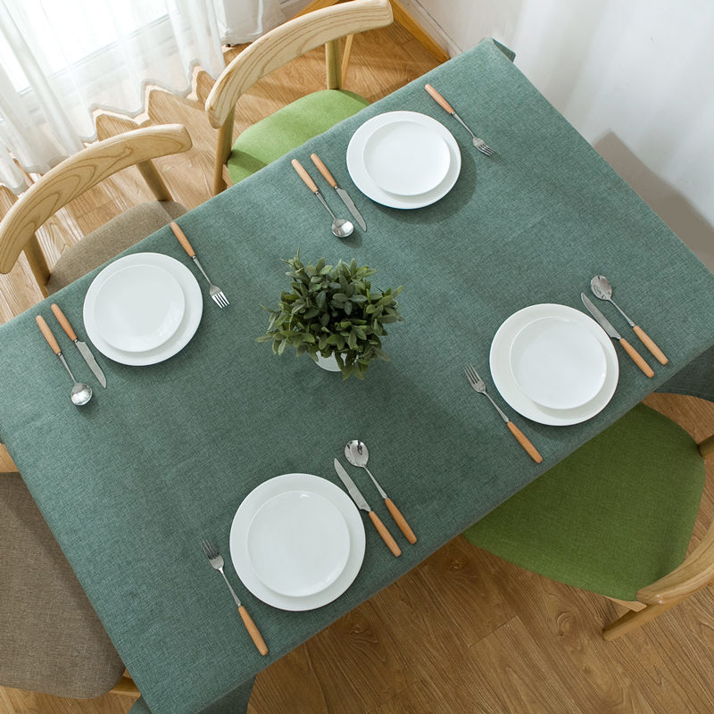 Nordic Pure Color Tablecloth Household Thicken Table Cloth Rectangular Linen Table Cover Hotel home Decoration simple modern image