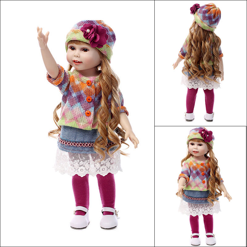 NPK COLLECTION Lovely American Girl Dolls Toys for Children's Birthday Present,18 Inch Cute Princess Dolls with Clothes and Hat очиститель воздуха electrolux ehaw 9015d mini