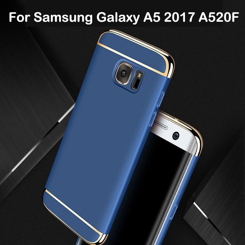 huge discount 8f62f 911cd 3 in 1 Case For Samsung Galaxy A5 2017 Case Back Cover 360 Degree  Protection Ultra Thin Slim For Samsung A5 2017 SM-A520F Gold