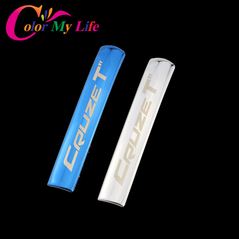 Color My Life Car Chrome Hand Brake Protection Trim Handbrake Decoration Cover Sticker for Chevrolet Cruze 2009 - 2015 Car Parts