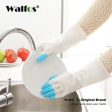 Waterproof Household Glove Warm Dishwashing Glove Water Dust Stop Cleaning Rubber Glove