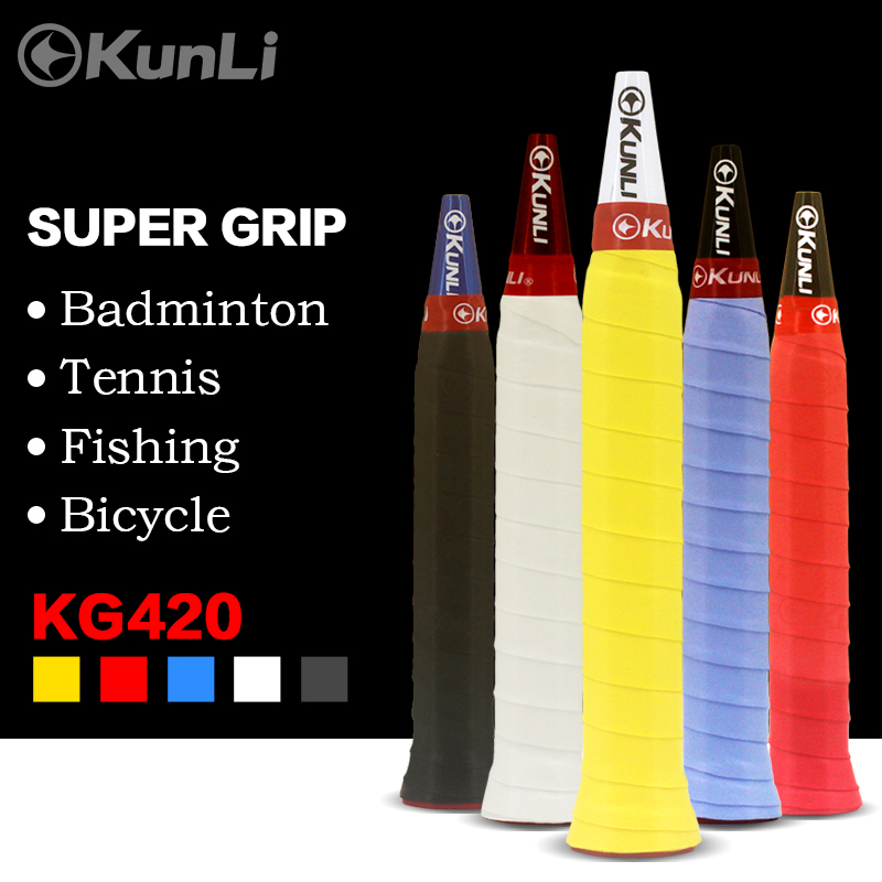 10pcs Kunli Anti-slip Breathable Sport Over Grip Sweatband Griffband Tennis Overgrips Tape Badminton Racket Grips Bicycle Grips
