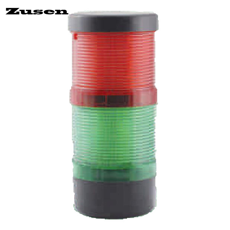 Zusen new TB70-2T-D 12v 24v 220v the combination of constant and strobe led 70mm signal tower light