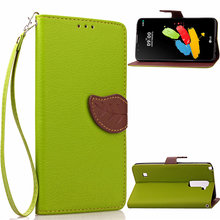 LS775 Case For LG LS775 Leaf Clasp Flip Leather Cases black Covers Function Card Slot Wallet Case Cover LS 775 LG775