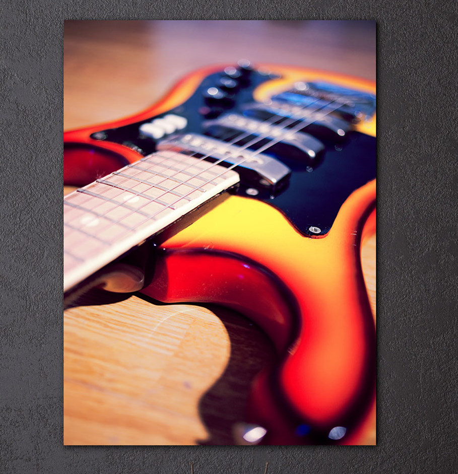 HD Printed 1 Piece Canvas Art Music Instrument Guitar painting Vintage Wall Picture For Living Room Artwork Hanging Canvas Print