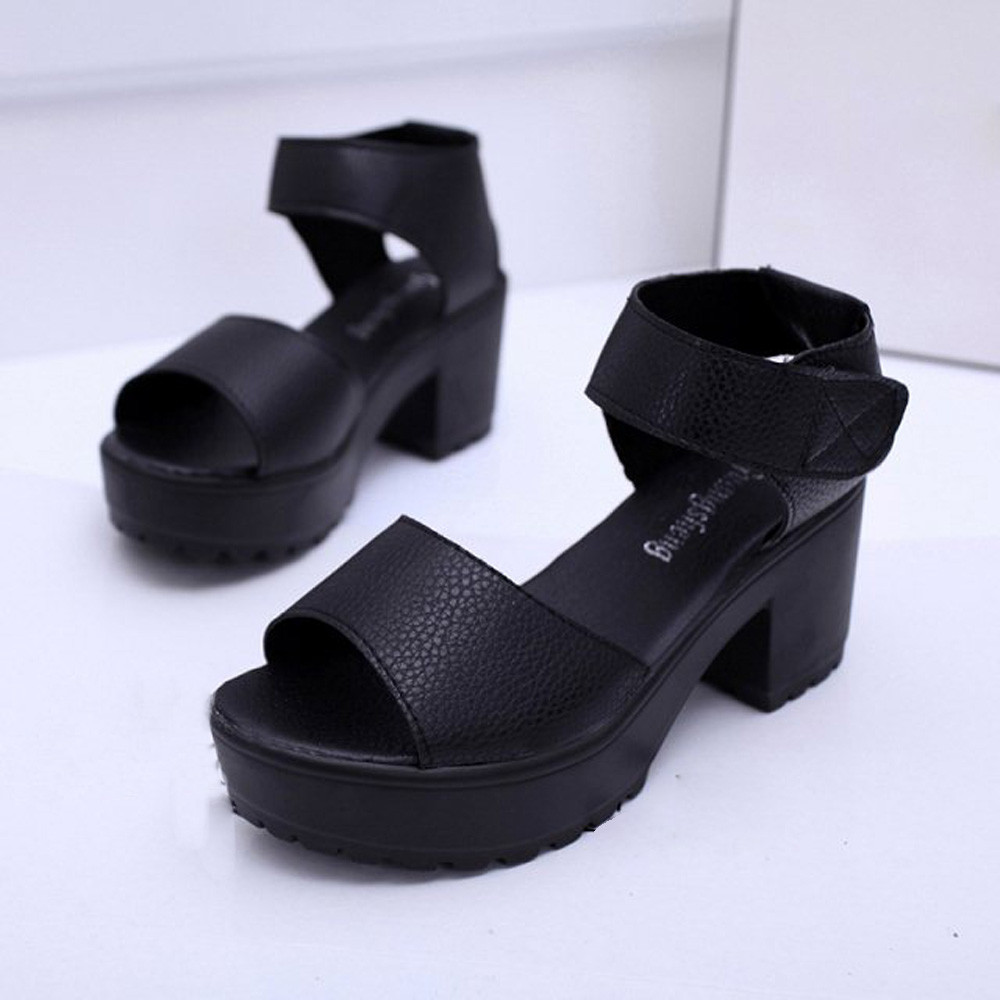 YOUYEDIAN Wedges Shoes For Women Women Open Toe Peep Toe Platform High Heel Gladiator Sandals Chunky Shoes #w30