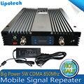 5 W Ceia Poder CDMA 3G UMTS 850 mhz Móvel Celular Reforço de Sinal de telefone GSM 850 mhz Amplificador Celular 85dBm Alto Ganho repetidor