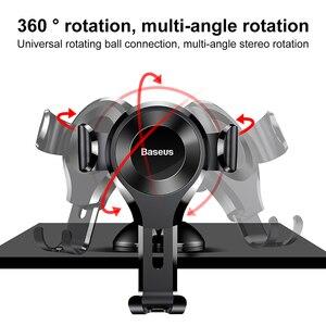 Image 5 - Baseus Soporte Universal para teléfono de coche Gravity, ventosa, parabrisas, para coche, iPhone 11 XS, Samsung