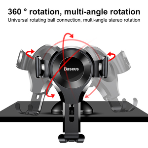 Image 5 - Baseus Universal Gravity Car Phone Holder Sucker Suction Cup Windshield Car Holder For iPhone 11 XS Samsung Phone Holder Stand
