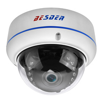 BESDER Full HD 1080P Hi3516C+IMX291 IP Camera P2P ONVIF Motion Detection Metal Case Vandalproof CCTV Security Dome Camera XMEye Surveillance Cameras