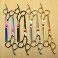 6 inch 17.5cm Japan KASHO 440C Professional Human Hair Scissors Hairdressing Cutting Shears Thinning Scissors Plum Handle H9002