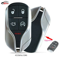 KEYECU New Upgrade Replacement Remote Key Fob 433MHz ID46 Chip for Chrysler Jeep Dodge 2011 2018 FCC: M3N 40821302
