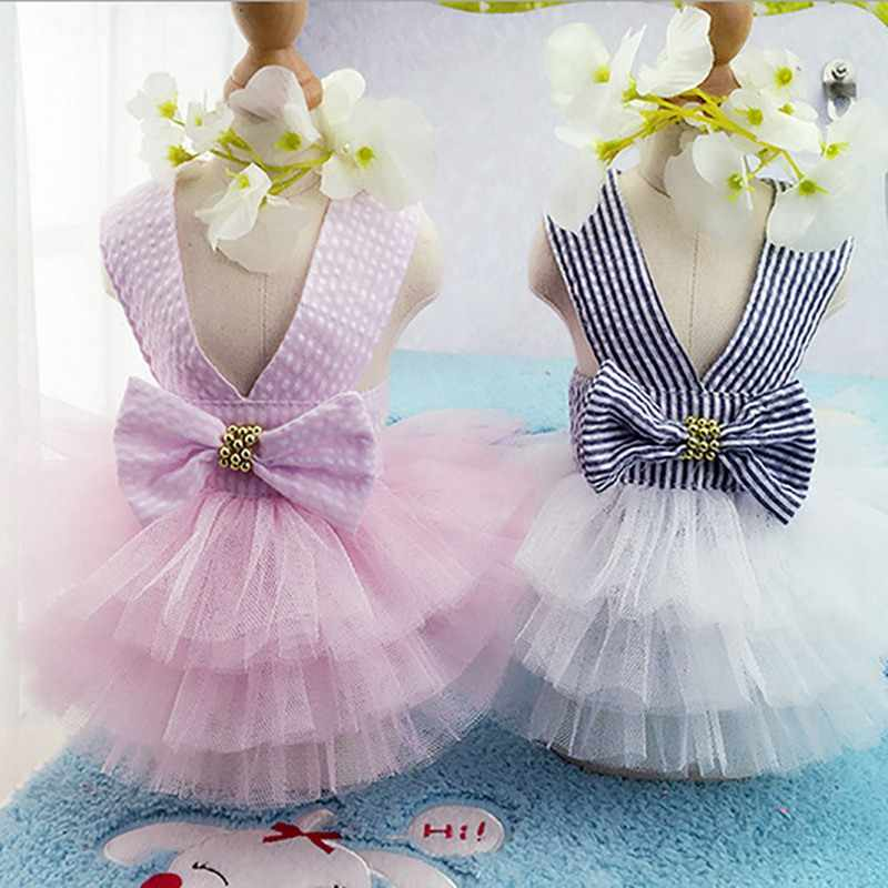 Dog Clothes For Small Dogs Dress Spring Summer Puppy Small Dog Lace Princess Chihuahua Dog Mascotas Roupa Pet Cachorro dresses