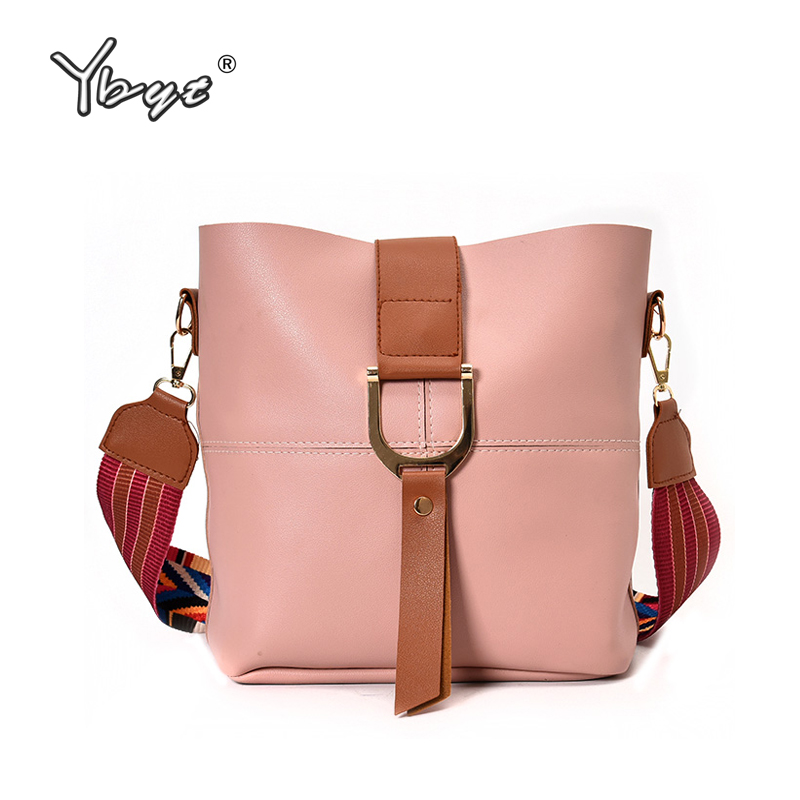 YBYT brand 2017 new casual PU leather bucket package women handbags colorful strap messenger bag ladies shoulder crossbody bags ybyt brand 2017 new casual pu leather women package envelope clutch female shopping bag ladies shoulder messenger crossbody bags