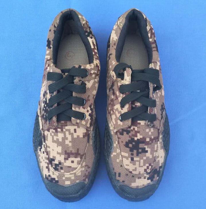 Antiscivolo, indossabile, di protezione del lavoro, campo del camuffamento, la formazione di sito, digital camouflage, scarpe da uomo