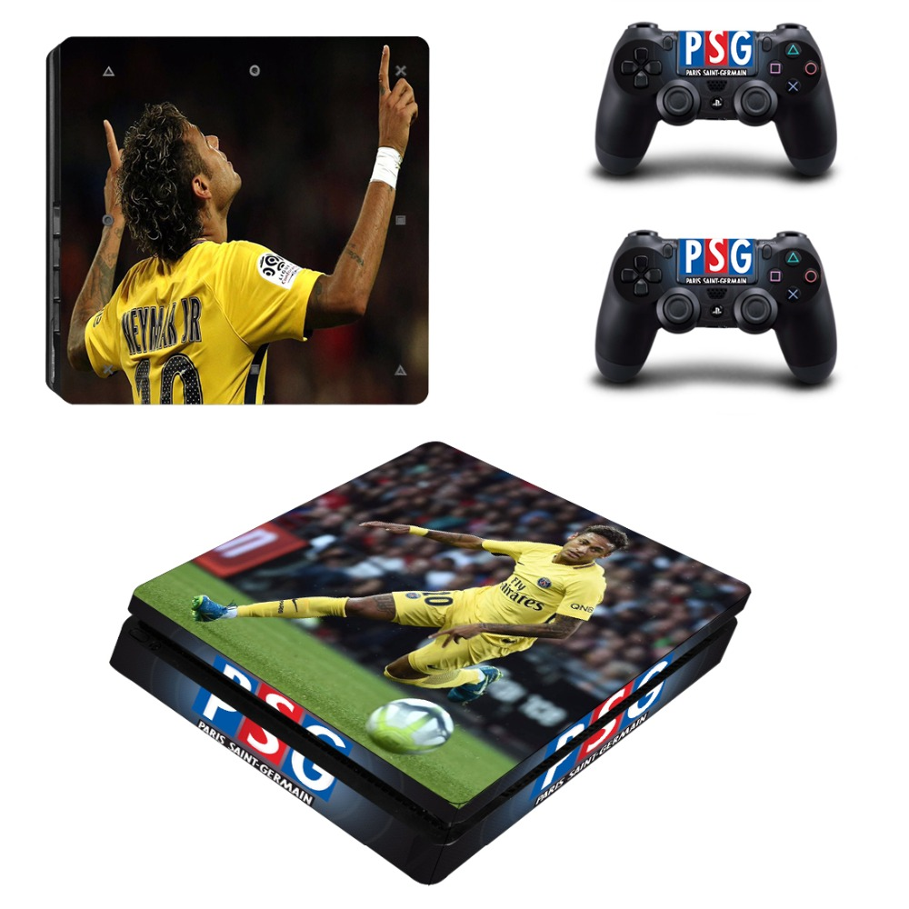 Neymar Ps4 Slim Skin Sticker Decal For Sony Playstation 4 Console And 2 Controller Ps4 Slim Skins Sticker Vinyl Relieving Heat And Sunstroke