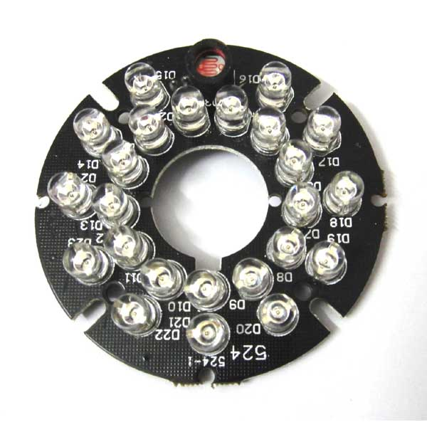 24 LEDs 5mm Infrared 90 Degrees Bulbs 850nm IR Board Illuminator For CCTV Camera 48 leds 5mm infrared ir 60 degrees bulbs board 850nm illuminator for cctv camera