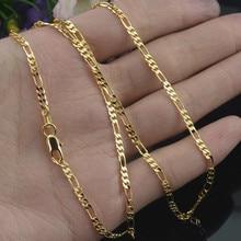 Mostyle 2 мм ширина золотое ожерелье для женщин мужчин серебряное звено цепи ожерелье Модные ювелирные изделия
