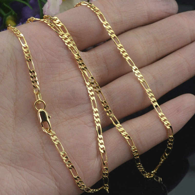 Modyle 2 ミリメートル幅ゴールドネックレスレディースメンズシルバーリンクチェーンネックレスファッションジュエリー卸売