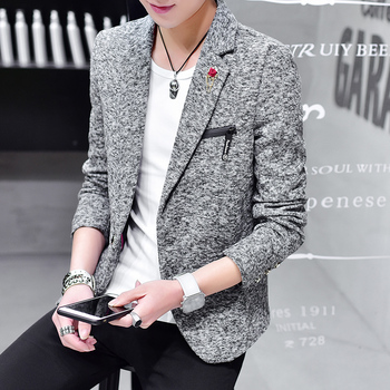 2020 men's slim short paragraph suit spring and autumn casual handsome suit youth