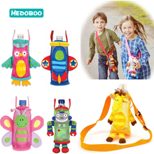 Medoboo Baby Water Bottle Cover Children Cup Plush Pouch Cartoon Animal Sets Bottles Holder Case Storage Messenger 10