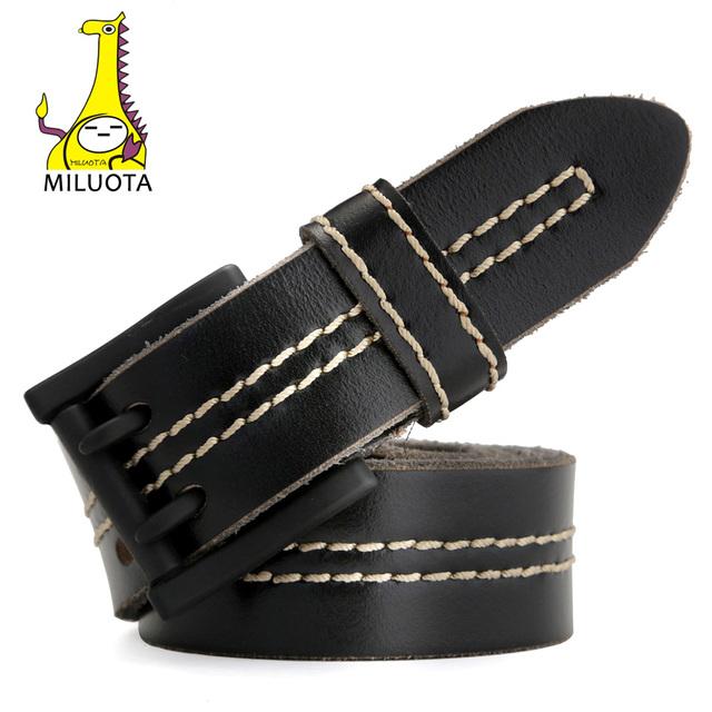 Men Double Hole Leather Belt