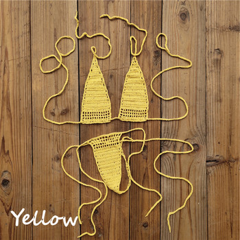 Handmade Sunbathing Micro Sexy Crochet Bikini18