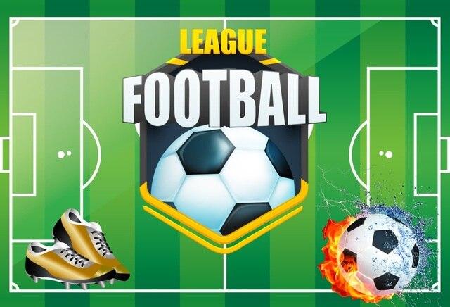 Laeacco футбол фоны для фотографии футбол зеленый поле цель Стадион Детский день рождения, вечеринка, фото фон для фотостудии