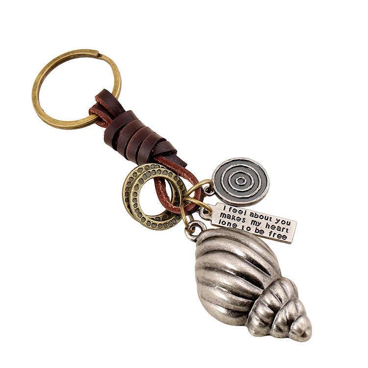 Элегантный стиль бронзового сплава Мужская сумка для ключей подвеска винты кожаный классический автомобильный брелок кольцо держатель ювелирных изделий