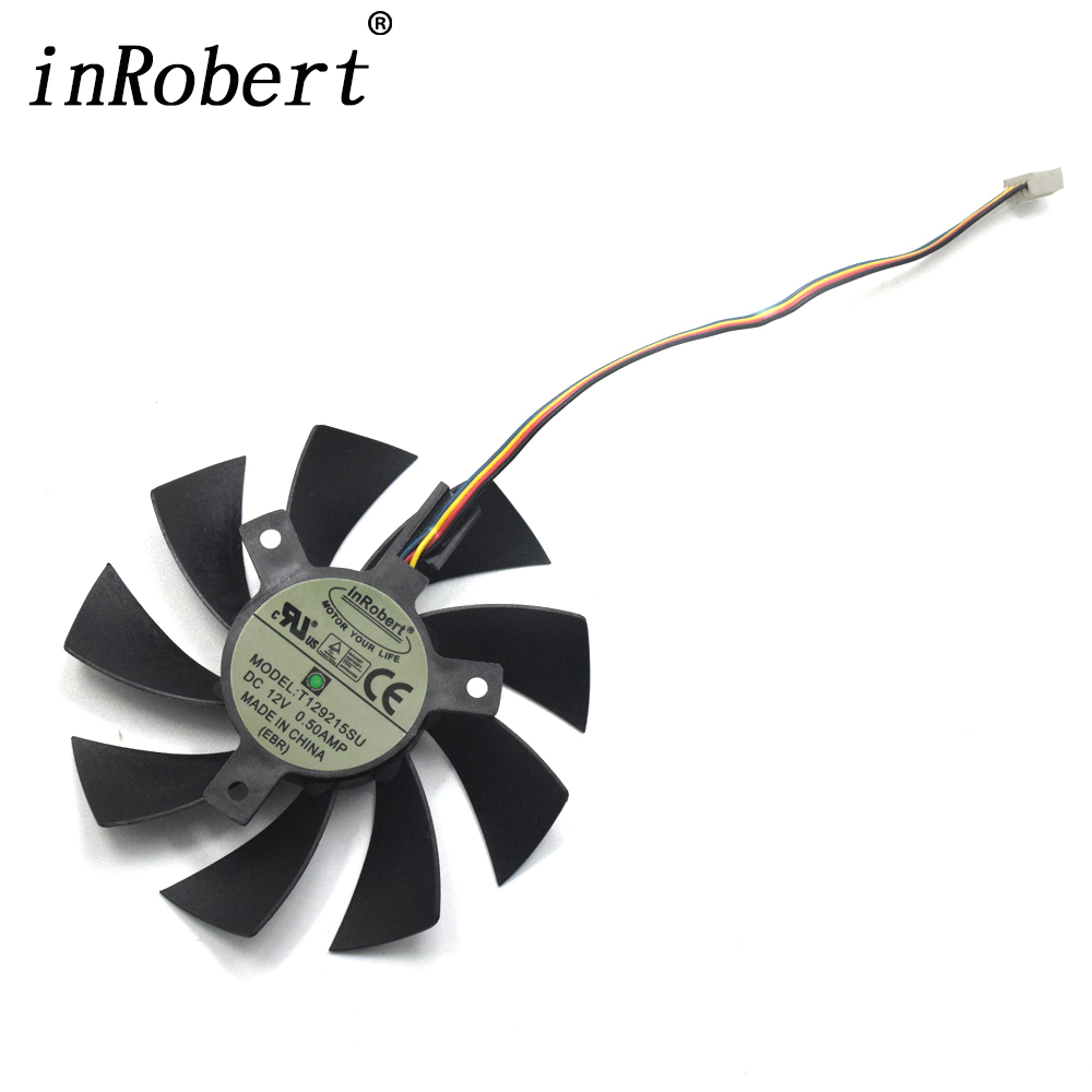 New 85mm T129215SU Cooling fan Replace For ASUS MSI Gigabyte P106 GTX 1060 960 RX 480 460 570 580 R9 290X Video Card Cooler Fan