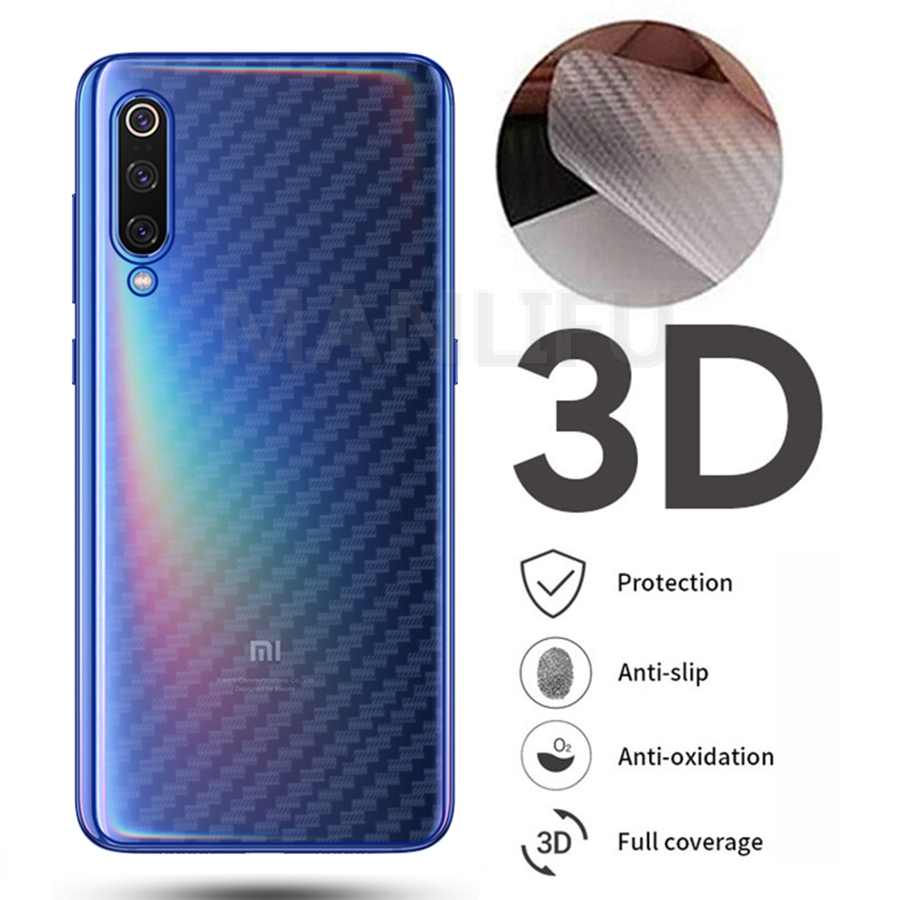 10Pcs/lot Carbon Fiber for Redmi K20 Note 7 Pro Back Screen Protector Sticker Protective Film For Xiaomi Mi 9T CC9 Pro 8 9 CC9e luces led de policía