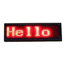 Красный цвет Программируемый СВЕТОДИОДНЫЙ аккумуляторная Прокрутка Имя Сообщение Знак Тегов Цифровой Дисплей Английский Русский, и т. д. во многих языках