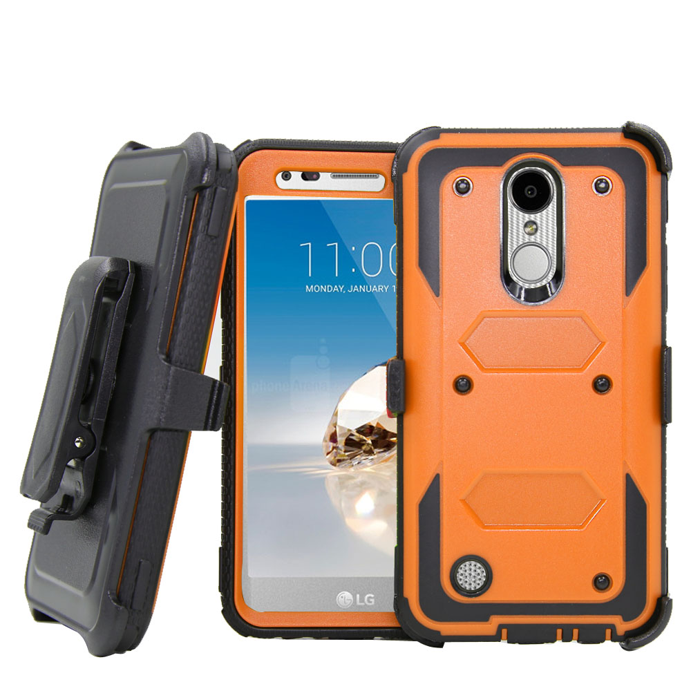 Heavy Duty Hybrid Armor Belt Clip Holster Cover Shockproof Case For LG K10 2017 M250M/K20 Plus/LV5/Harmony/Grace LTE L59BL Capa