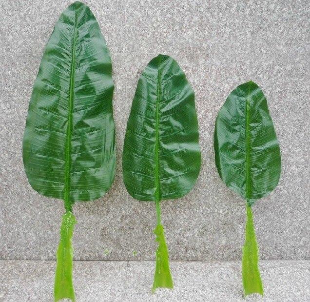 Искусственный Банановые листья, домашнее украшение, Искусственный шелк цветок, искусственные растения Natural Touch - Цвет: L100CM