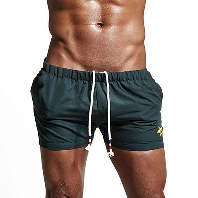 cd100f7c42 2019 New Shorts Men Summer Hot Sale Beach Shorts Mens Breathable Swim  Trunks Pants Swimwear Shorts Slim Wear Bikini Swimsuit