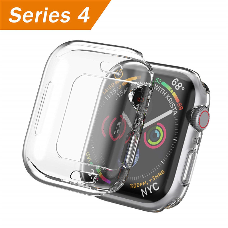 Compatible with Apple Watch Series 4 Screen Protector 44mm 40mm TPU Case Soft Slim Full-Around Protective for iWatch Clear Cover 3pack tpu screen protector film for apple watch series 4 40mm 44mm soft tpu anti scratch protective film for iwatch 40mm 44mm