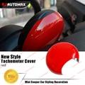 2017 Red Color For Mini Cooper Tachometer Cover Car Interior Decoration Accessories for R55 R56 R57 R58 R59 R60 Countryman