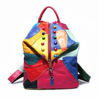 High Quality 100 Genuine Leather Backpack Women Bags Cowhide Leather Bag Mochila Feminina Preppy Style School