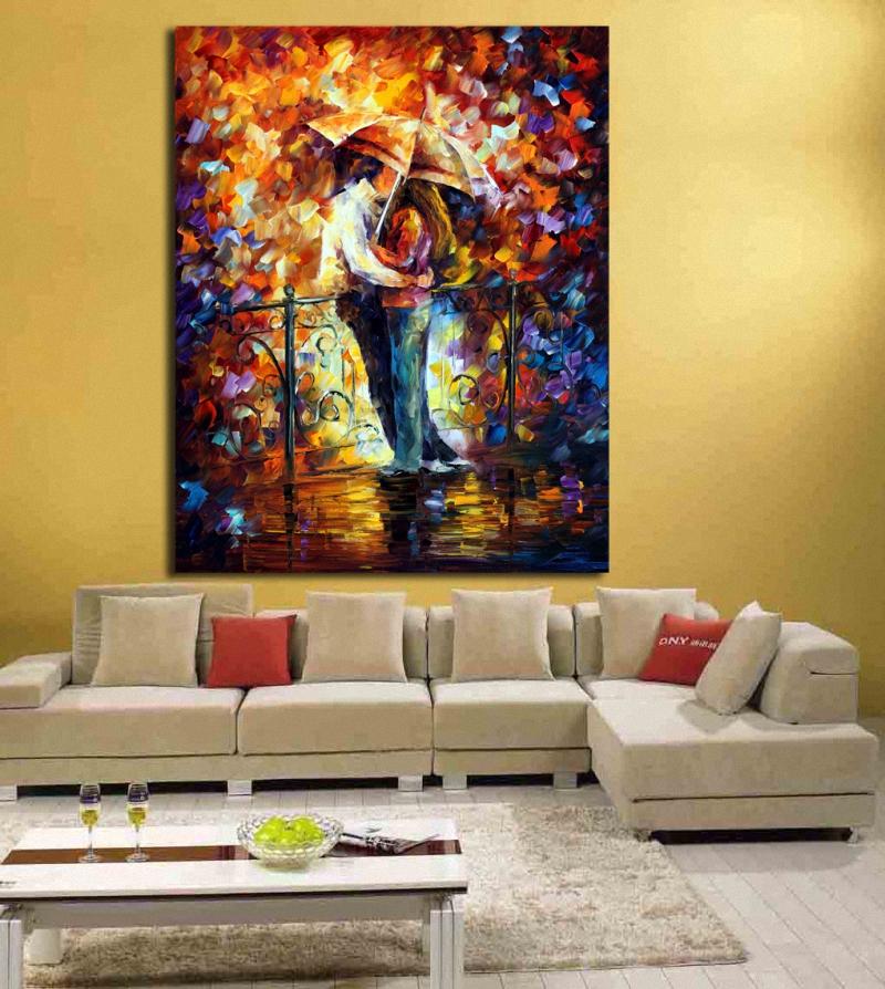 beso en el puente paleta de colores arte de la pared impresin de la lona de