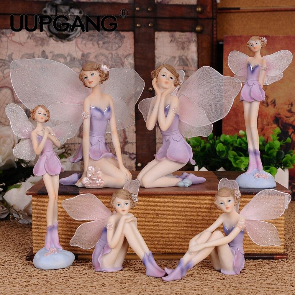 DIY красивая девушка творческие подарки украшения в виде ангела из смолы домашний декор миниатюрные Цветочные фигурки Феи свадебное украшение|Статуэтки и миниатюры|   | АлиЭкспресс